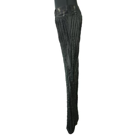 KOHSHIN  SATOH  メンズ  地模様 ピンタックパンツ〔PL-036〕(Black 32)