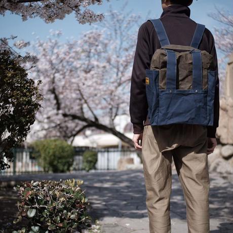 【アーカイブ受注生産品】ケイオス! リュックサック21M(2tone) -コンブオリーブ/ディープシーネイビー-