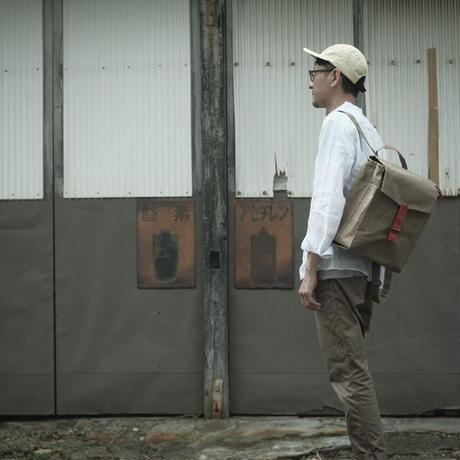 【アーカイブ受注生産品】ウィリアムソンリュックサック  -ベージュ/コメットレッド-