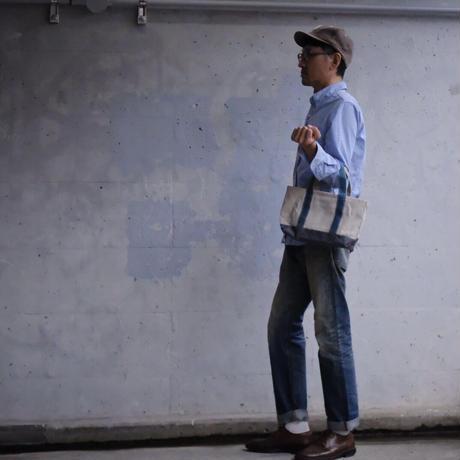 【限定リネンのトートバッグ!】ミニモークトートバッグ リネン S-アシュリーピンク/スモーキーブルー/エレファントグレー-