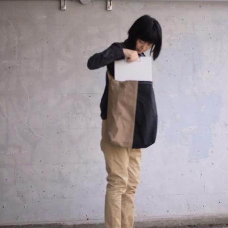 【使いやすくて大容量なLサイズ!】コヴェントリーバッグ L-マッティブラック/ベージュ-