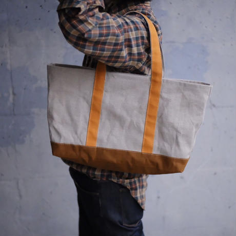 【限定リネンのトートバッグ!】ミニモークトートバッグ リネン M-ブライトイエロー/カーキ/マサラブラウン-