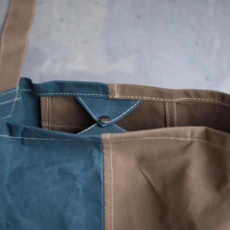 【使いやすくて大容量なLサイズ!】コヴェントリーバッグ L-スモーキーブルー/ベージュ-