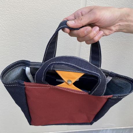 【二重人格バッグ!】ロールザダイスバッグ-デニム/クラレット/エレファントグレー-