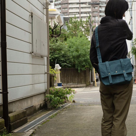 【カッコカワイイミニサイズ】ロットレンダーサッチェルバッグミニ -スモーキーブルー-