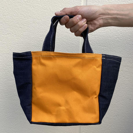 【二重人格バッグ!】ロールザダイスバッグ-デニム/スモーキーブルー/ブライトイエロー-
