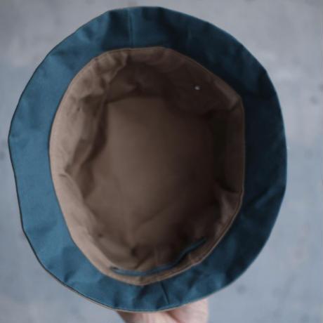 【チラっとカラーシリーズ出来ました!】ダブラヴハット-ゴマベージュ/スモーキブルー-
