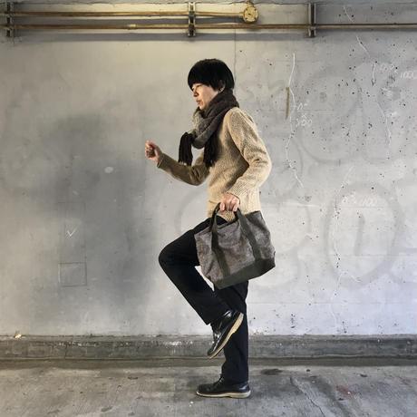 【憧れと向き合った2020モデル】ミニモークトートバッグ ウール  -ヘザーウール/カーキ-