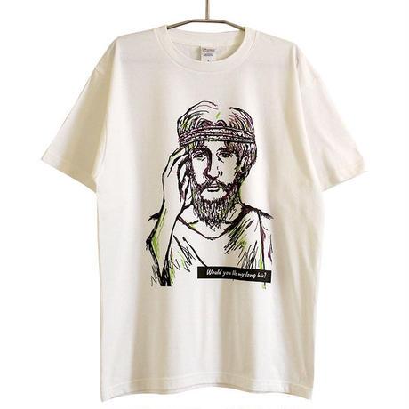 神、長い方がいいかな……Tシャツ