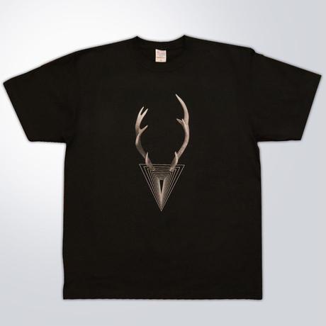 マジめなシカTシャツ(ブラック)