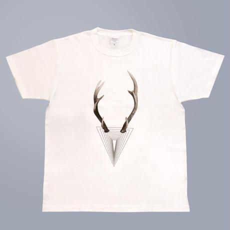 マジめなシカTシャツ(ホワイト)