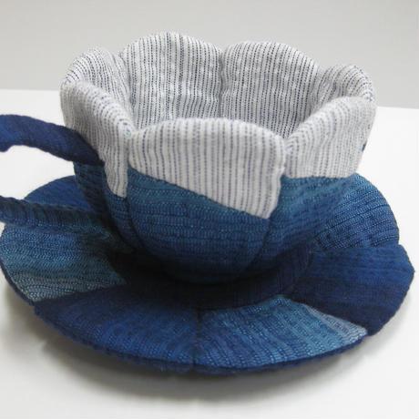 阿波しじら織 コーヒーカップの小物入れ