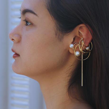〈DE-EC60〉planet pearl earcuff