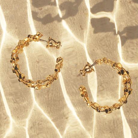 〈DE-AP208〉metal gem pierce/earring