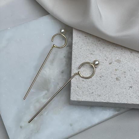 pearl stick earcuff  SET