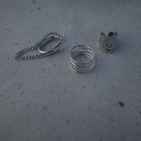 〈DE-EC62〉double chain earcuff