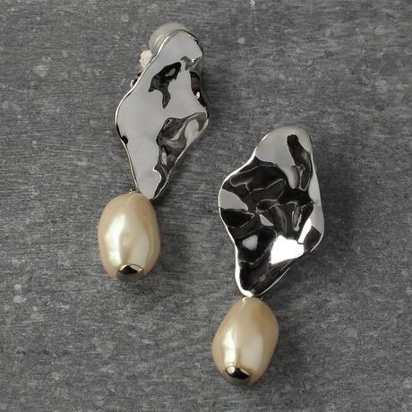 〈DE-ER180〉water surface pearl earring/pierce