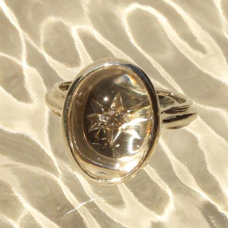 〈DE-AR106〉cabochon signature ring