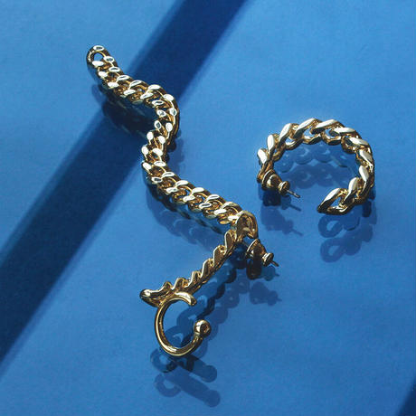〈DE-EC64〉asymmetry chain ear cuff