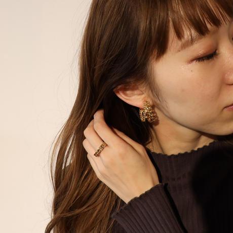 〈DE-ER181〉double chain earring/ pierce