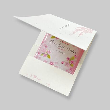 春・入浴剤入りメッセージカード(10セット)