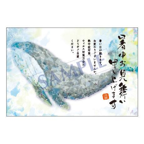 メッセージカード/暑中見舞い/20-0939/1セット(10枚)