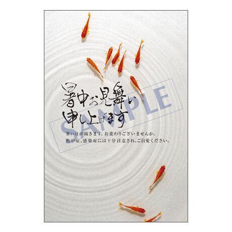 メッセージカード/暑中見舞い/21-0975/1セット(10枚)