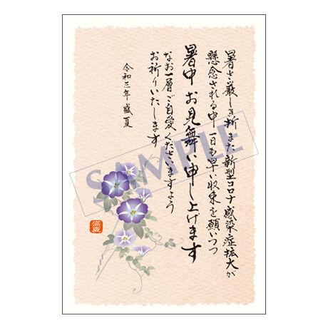 メッセージカード/暑中見舞い/21-0970/1セット(10枚)