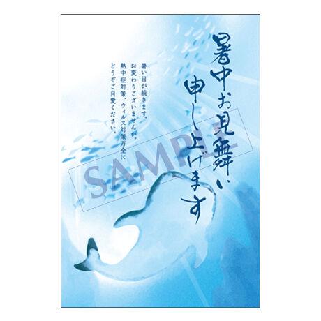 メッセージカード/暑中見舞い/21-0969/1セット(10枚)