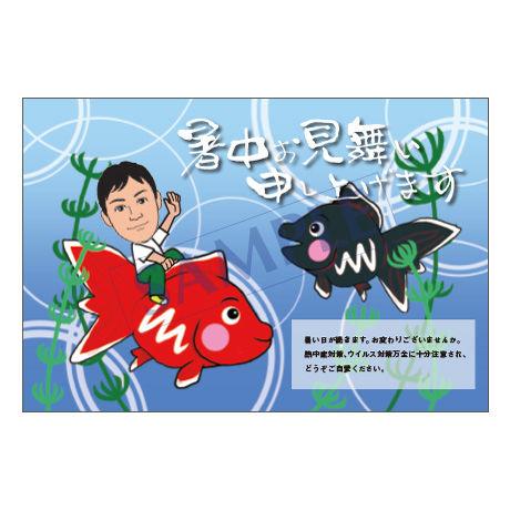 メッセージカード/暑中見舞い/20-0948/1セット(10枚)