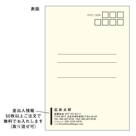 メッセージカード バースデー 08-0301(似顔絵ver) 1セット(10枚)