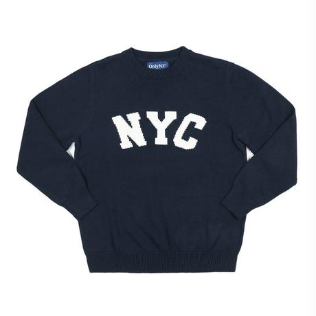 """ ONLY NY"" NYC Knit Sweater (Navy)"