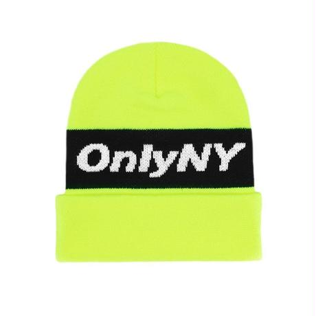 """ONLY NY"" Knit Logo Beanie (Safety Yellow)"