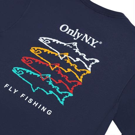 """ONLY NY""Saltwater Guide L/S T-Shirt(Navy)"