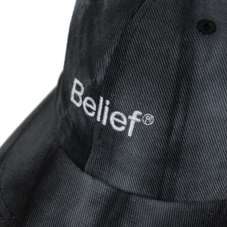 """Belief"" Tie Dye Logo 6 Panel - Black"