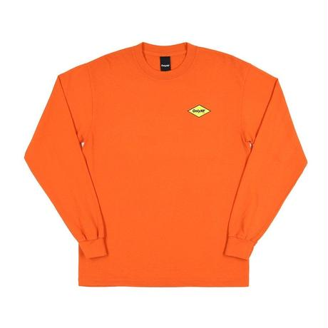 """ ONLY NY"" Diamond Logo L/S T-Shirt (Orange)"
