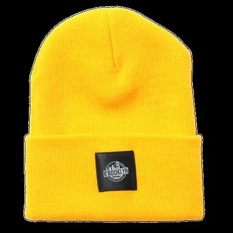 K'rooklyn × 上岡 拓也 Collaboration Knit Cap (Yellow)