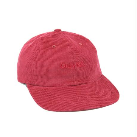 """""""ONLY NY"""" Lodge Corduroy Polo Hat (Raspberry)"""