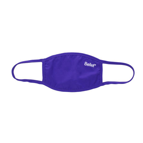 """Belief"" Premium Logo Face Mask - Purple"