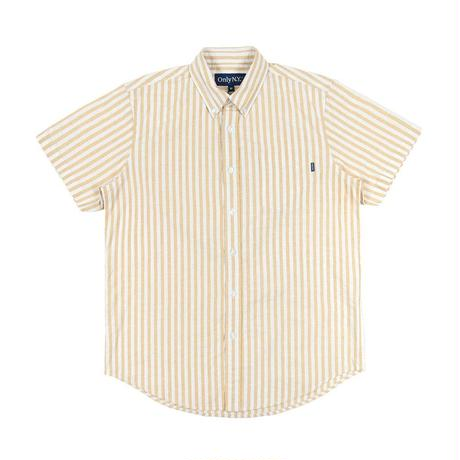 """ONLY NY"" Thin Stripe S/S Button Down (Yellow)"