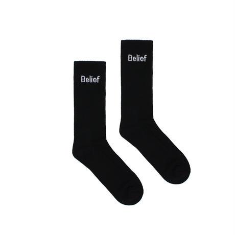 """Belief"" Logo Sock - Black"
