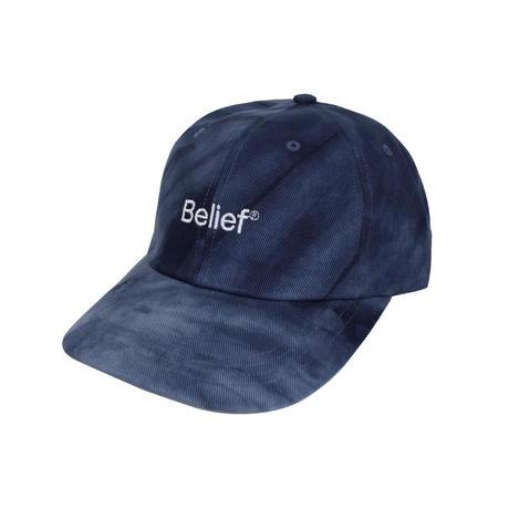 """""""Belief"""" Tie Dye Logo 6 Panel - Navy"""