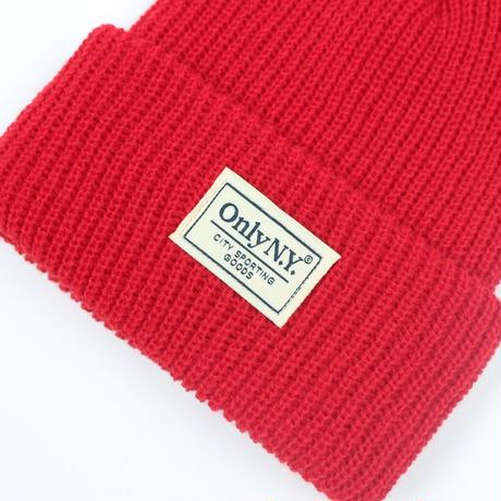 """ONLY NY"" Lodge Beanie (Dark Red)"