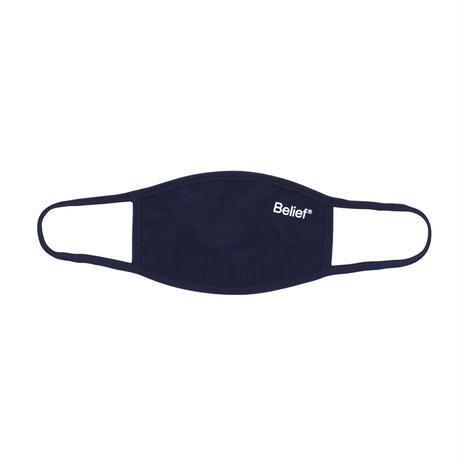 """Belief"" Premium Logo Face Mask - Navy"