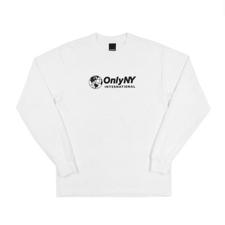 """ ONLY NY"" International L/S T-Shirt (White)"