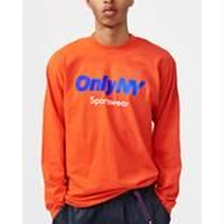 """ONLY NY""Sportswear Logo L/S T-Shirt(Orange)"