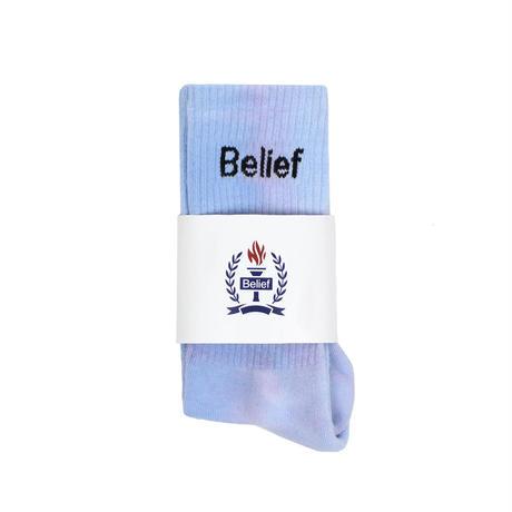 """""""Belief"""" Logo Sock - Blue Multi"""