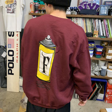 """FLASH""  Splay Crew Neck (Burgundy)"
