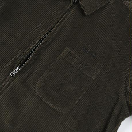 """ ONLY NY"" Wide Wale Corduroy Shacket (Olive Drab)"