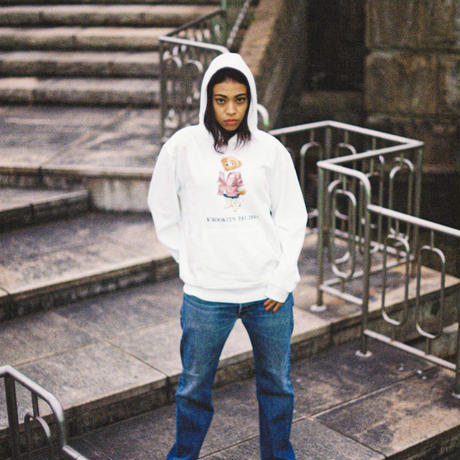 K'rooklyn × 上岡 拓也 Collaboration Hoodie -White-